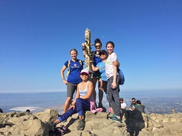 sweat pink sf mission peak hike